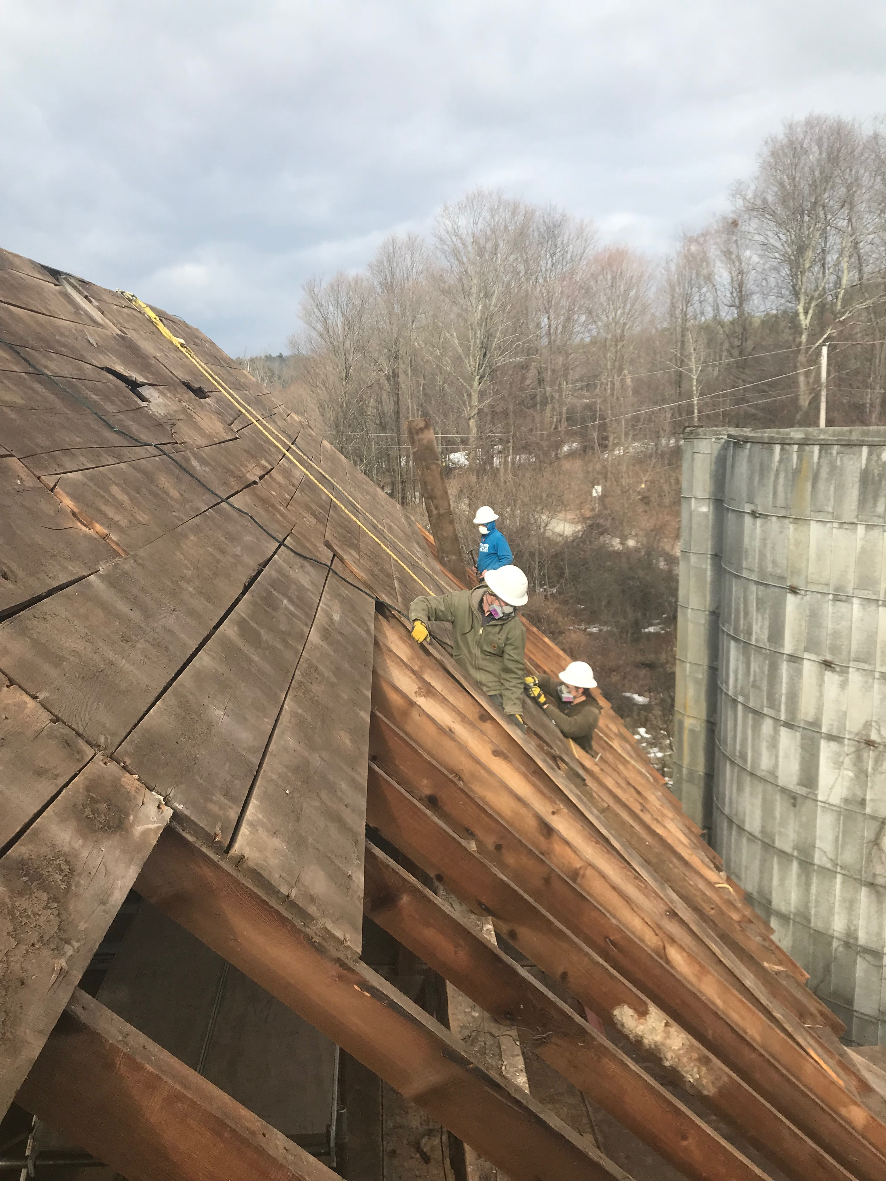 removing roof boards from benson barn for sale
