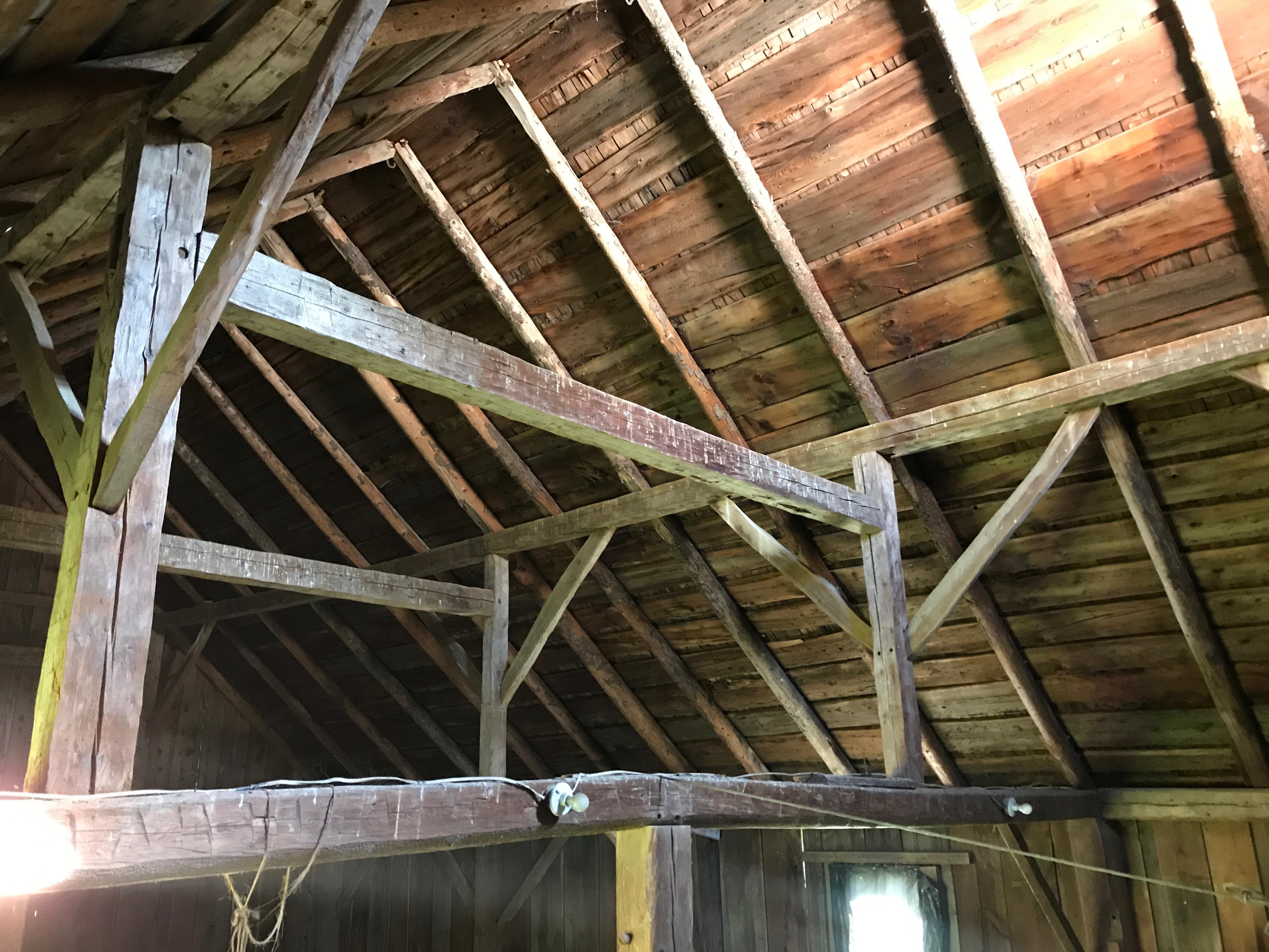 Pre 1800s gunstock barn for sale_Green Mountain Timber Frames