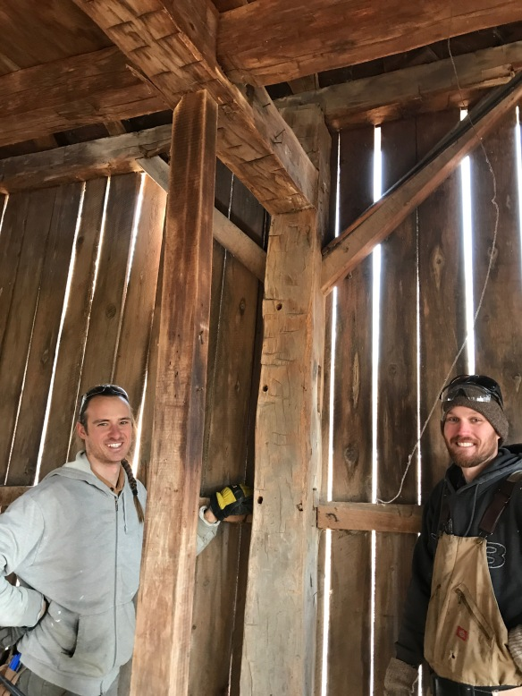 timber framing crew  |  rupert granary | green mountain timber frames