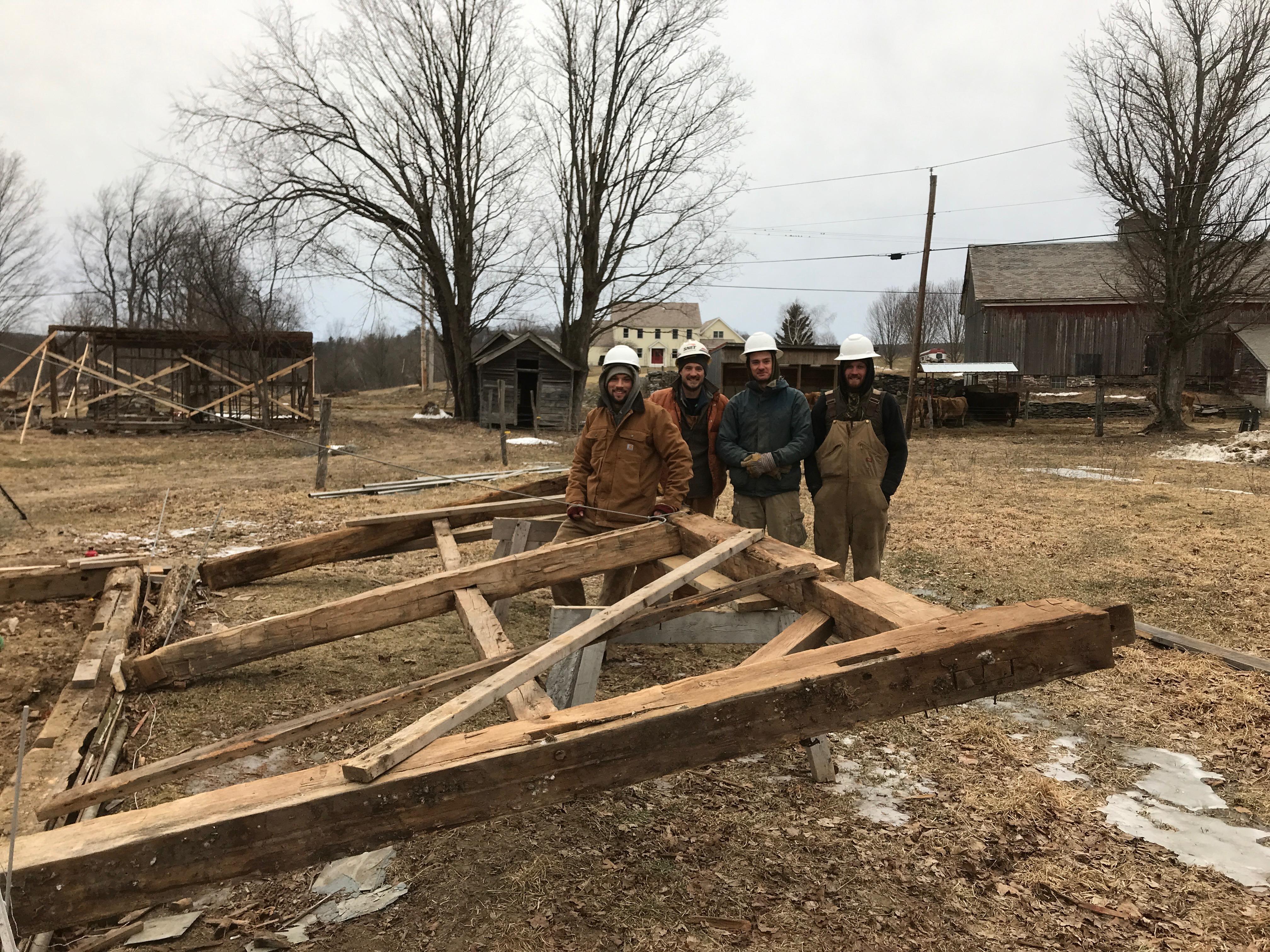 Green mountain timber frames crew | rupert granary