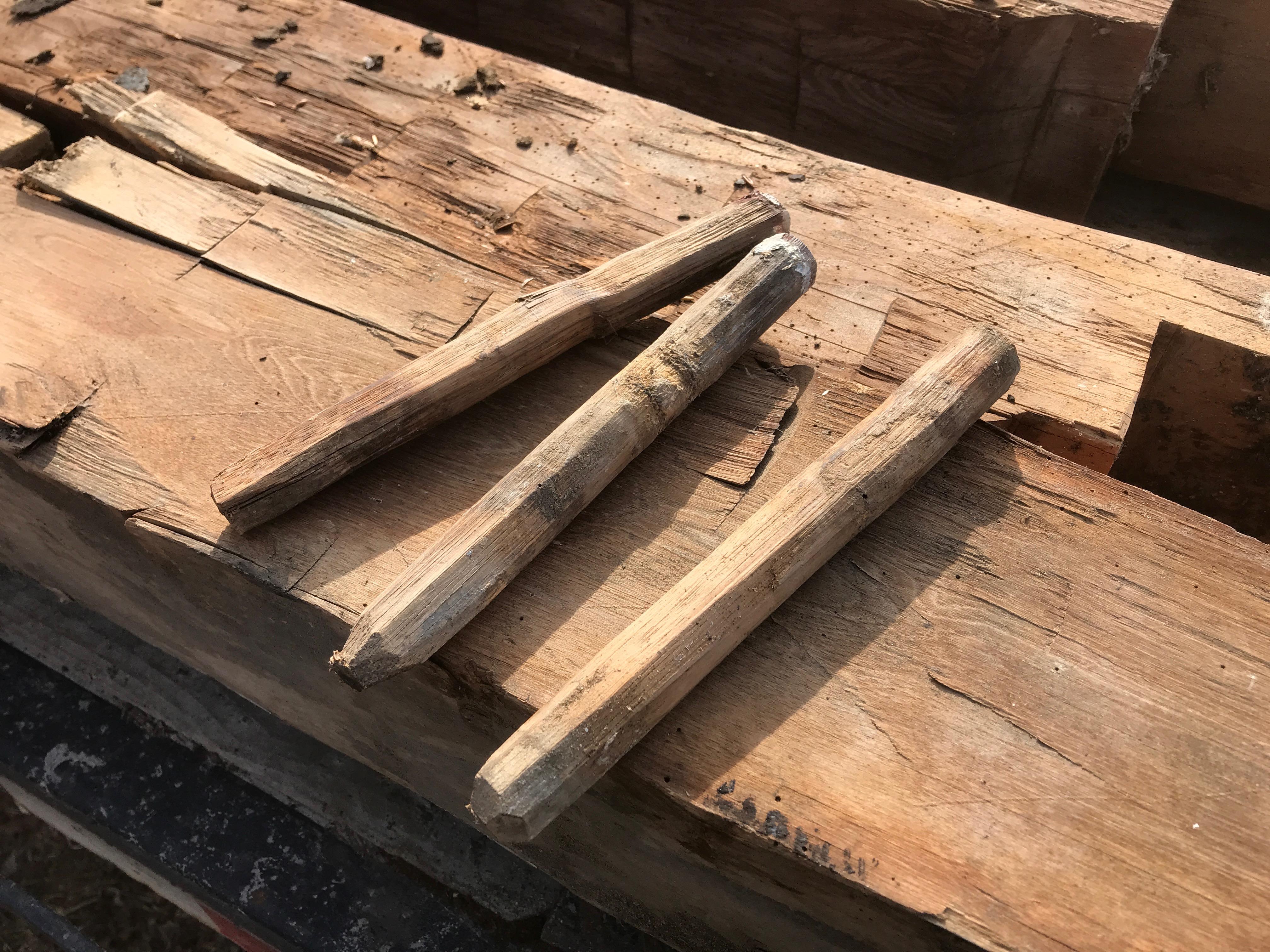 granary pegs  |  rupert granary | green mountain timber frames