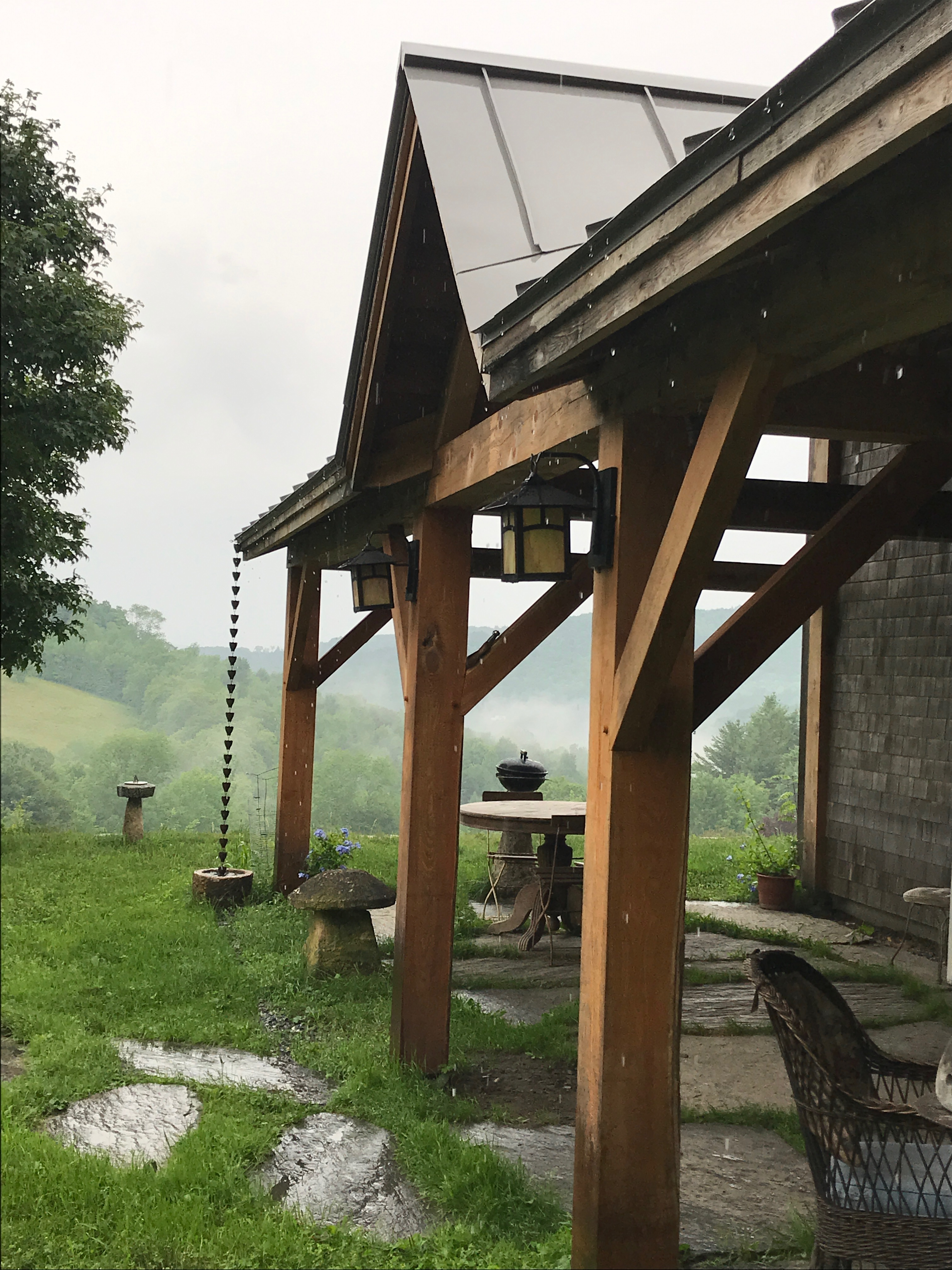 barn home timber frame porch green mountain timber frames
