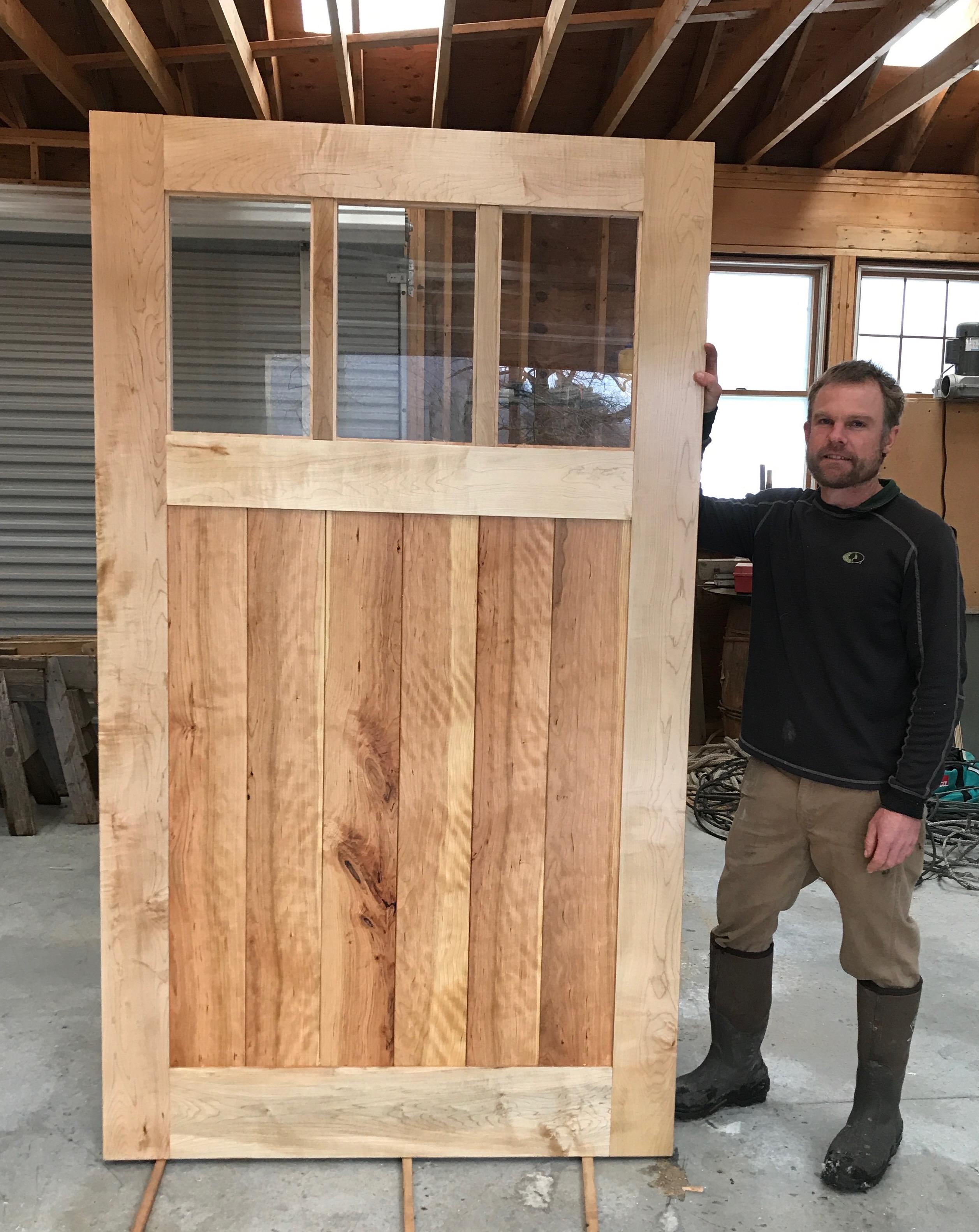 custom barn door timber frame green mountain timber frames