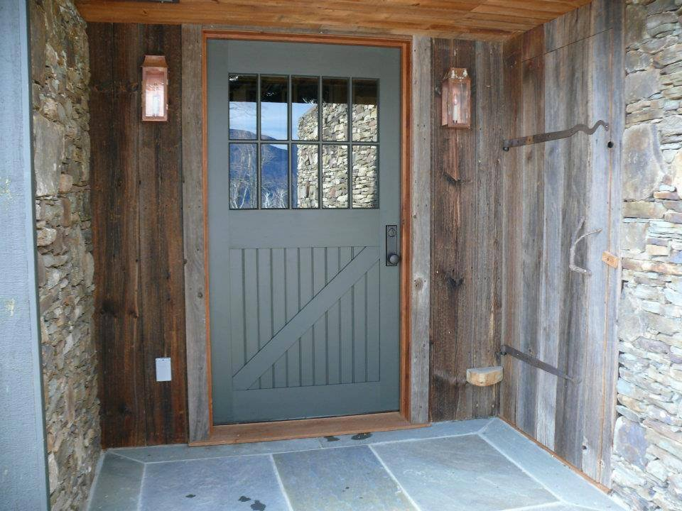 custom divided lights entryway barn home green mountain timber frames