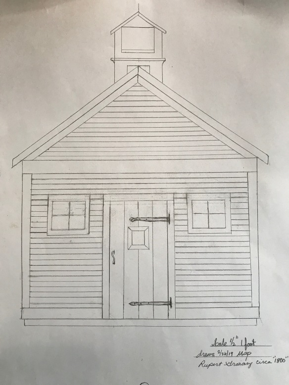drawing of rupert granary barn home green mountain timber frames