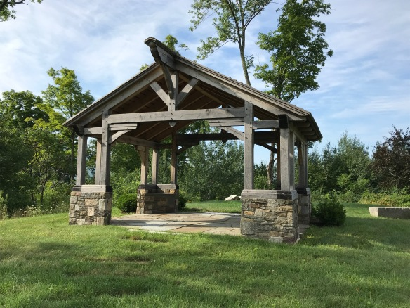 timber frame Gazebo- green mountain timber frames