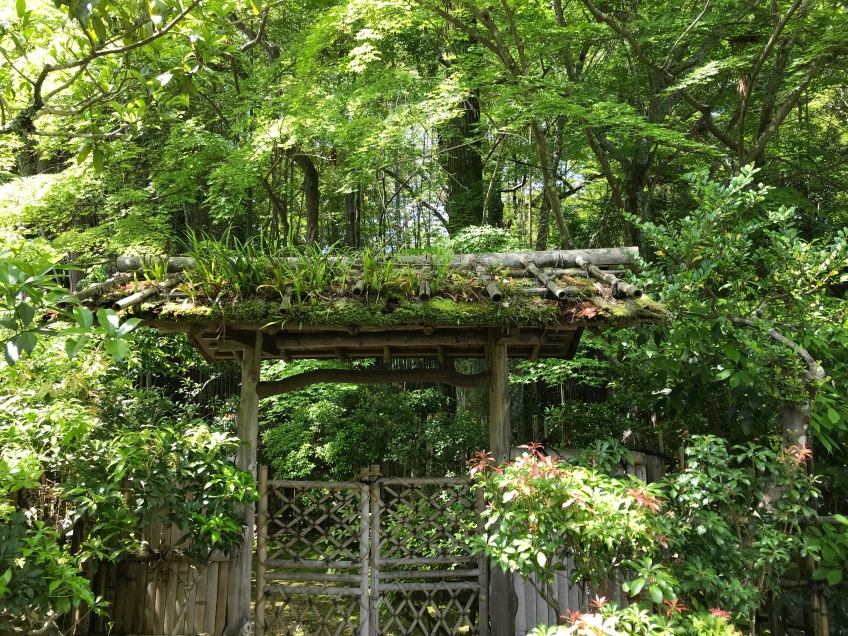 Japanese garden gate | green mountain timber frames