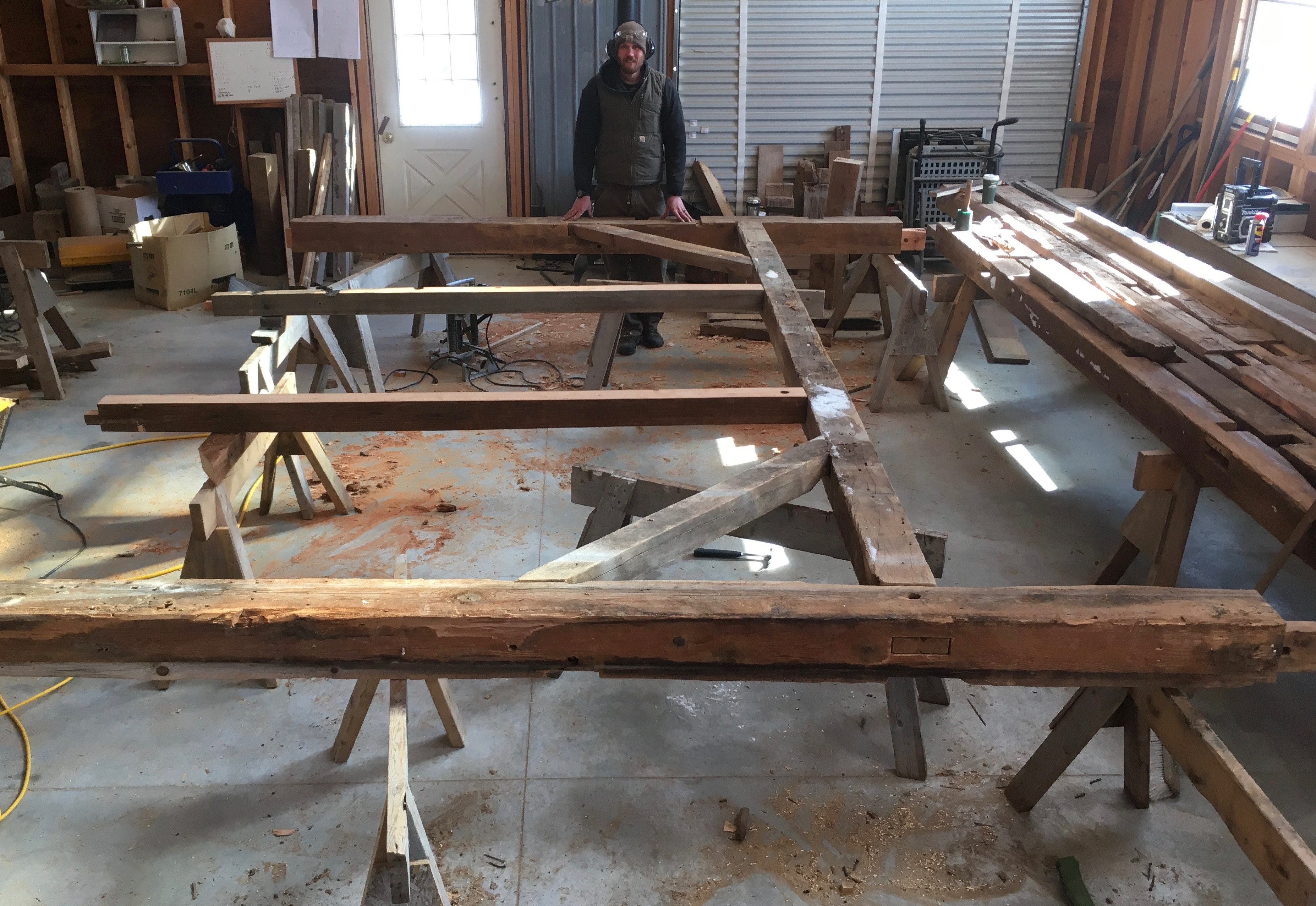 restoration of trapper cabin corn crib green mountain timber frames