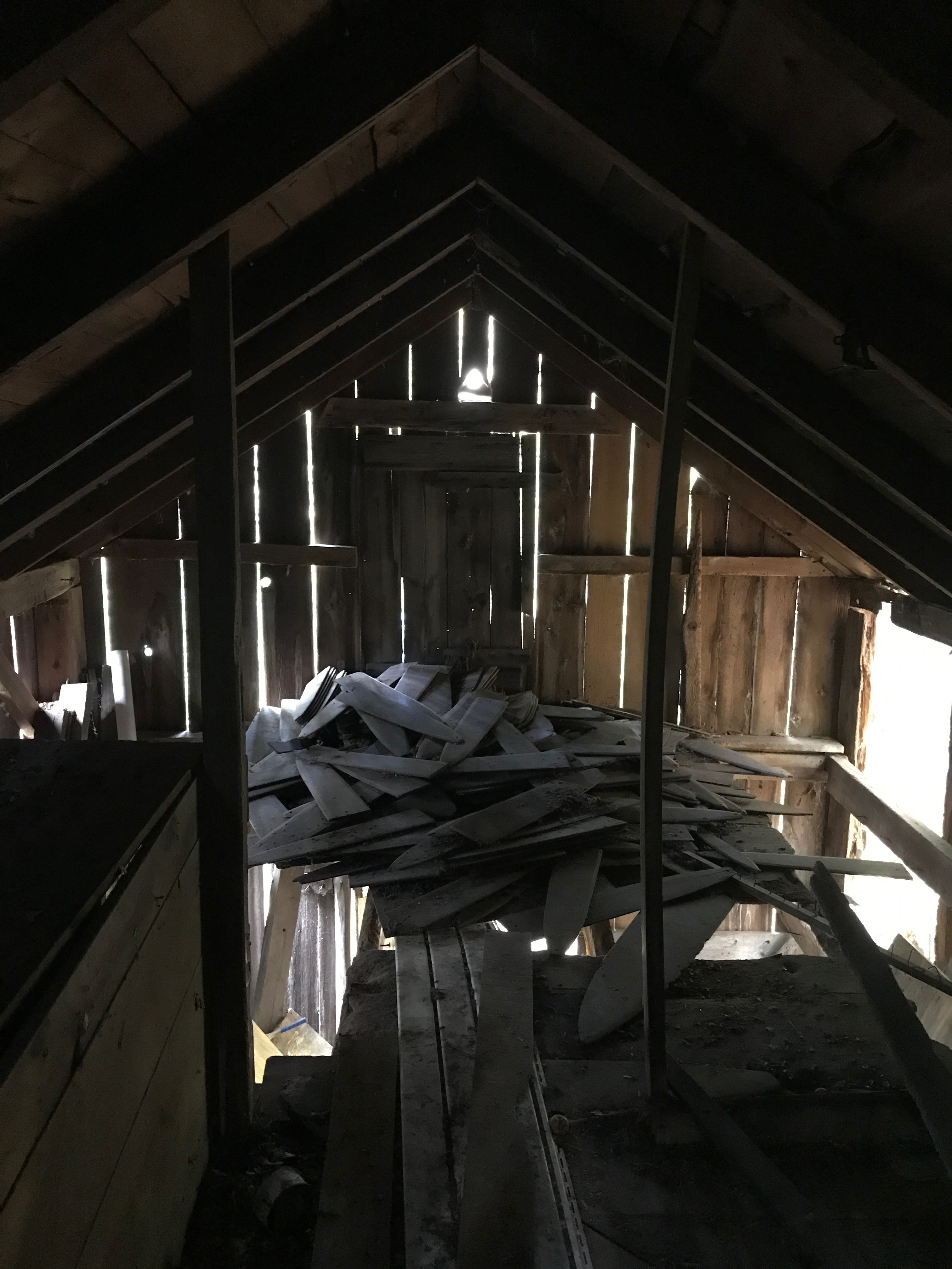 Trapper's Cabin fur stretchers in the loft vintage cabin green mountain timber frames