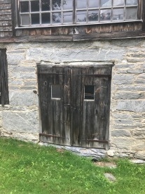 Vermont Grist Mill doors with strap hinges green mountain timber frames