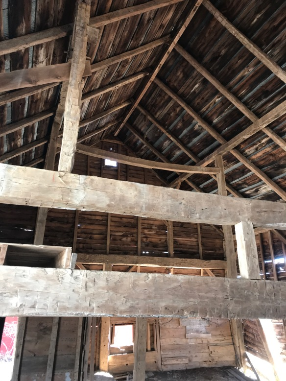 chestnut timber truss vintage barn | Green mountain timber frames