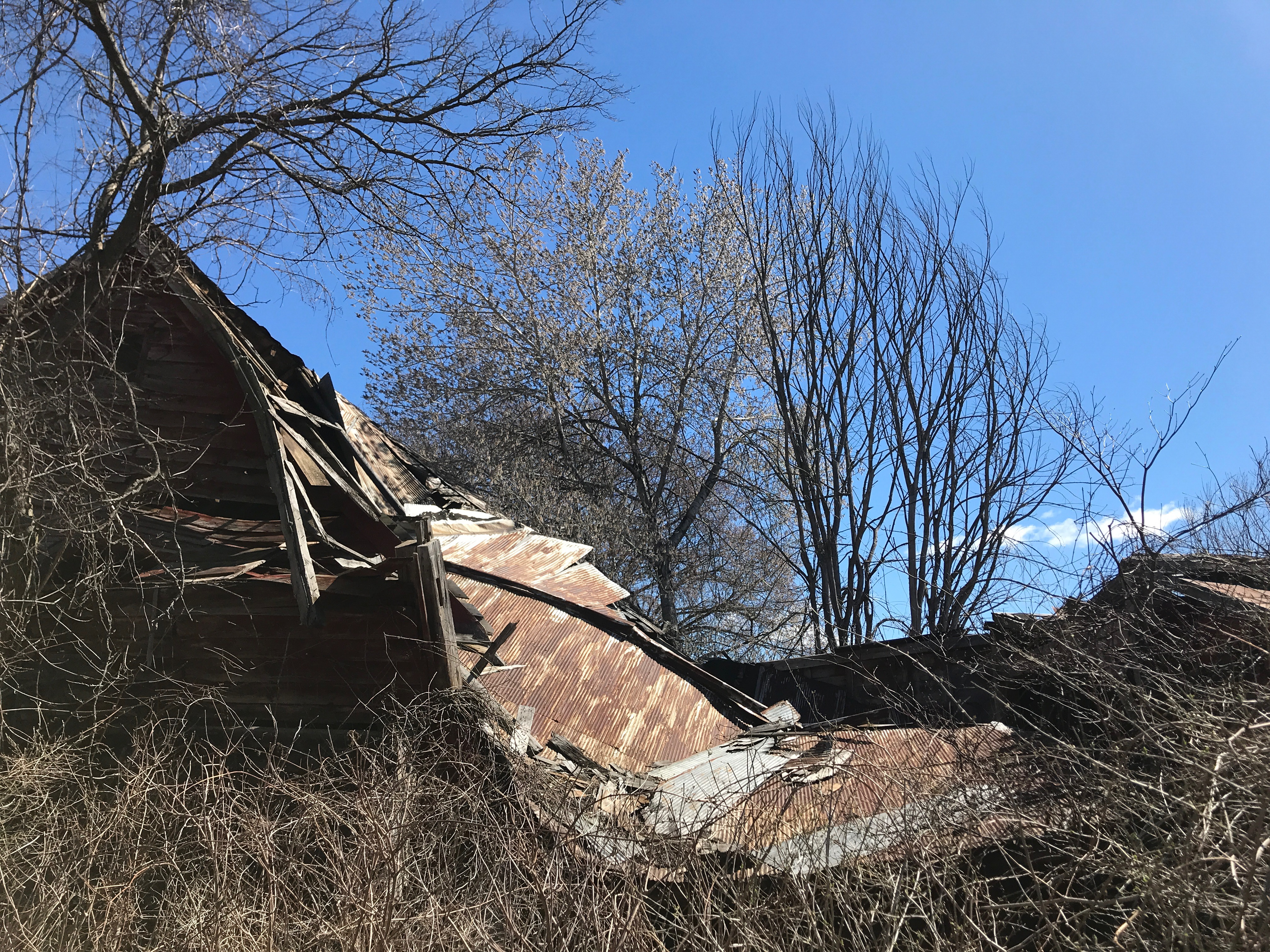 collapsed vintage barn | Green mountain timber frames