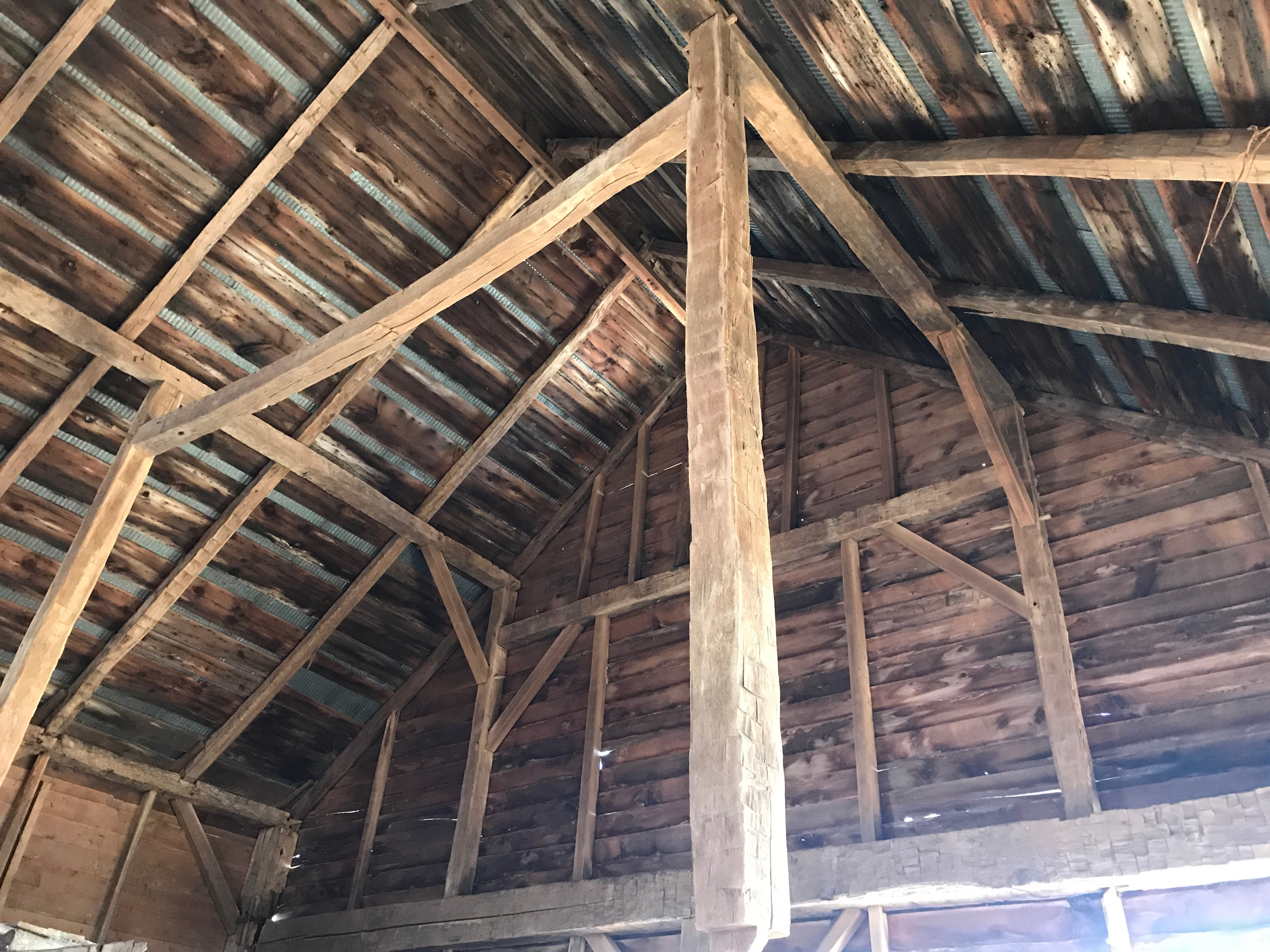 vintage timber frame barn home | green mountain timber frames