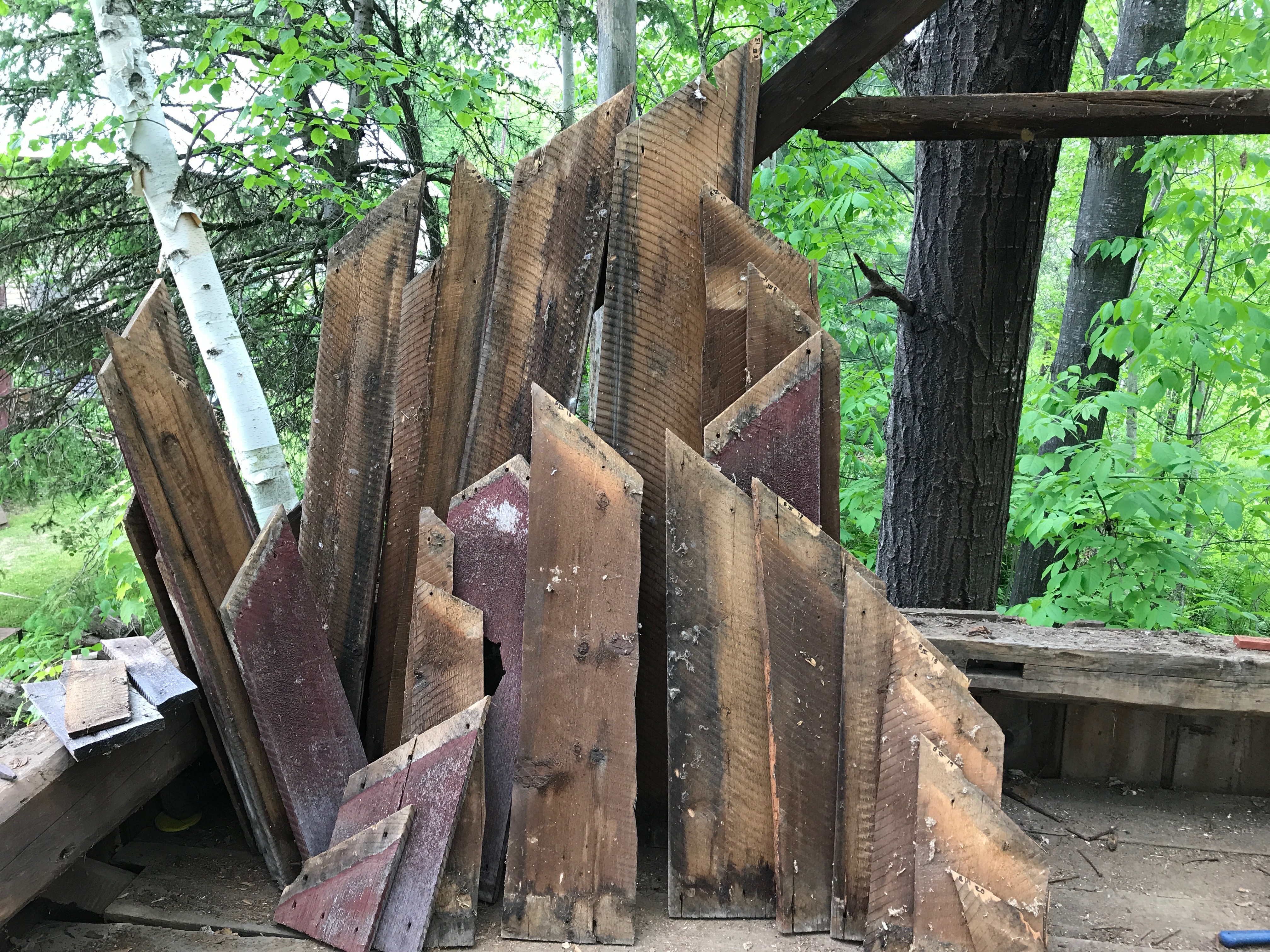 waterford corn crib gable siding removed green mountain timber frames