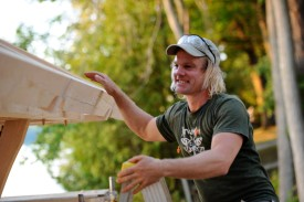 Luke Larson, owner of Green Mountain Timber Frames