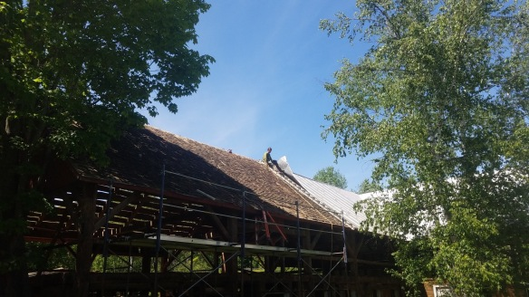 removing metal from roof of waterford barn