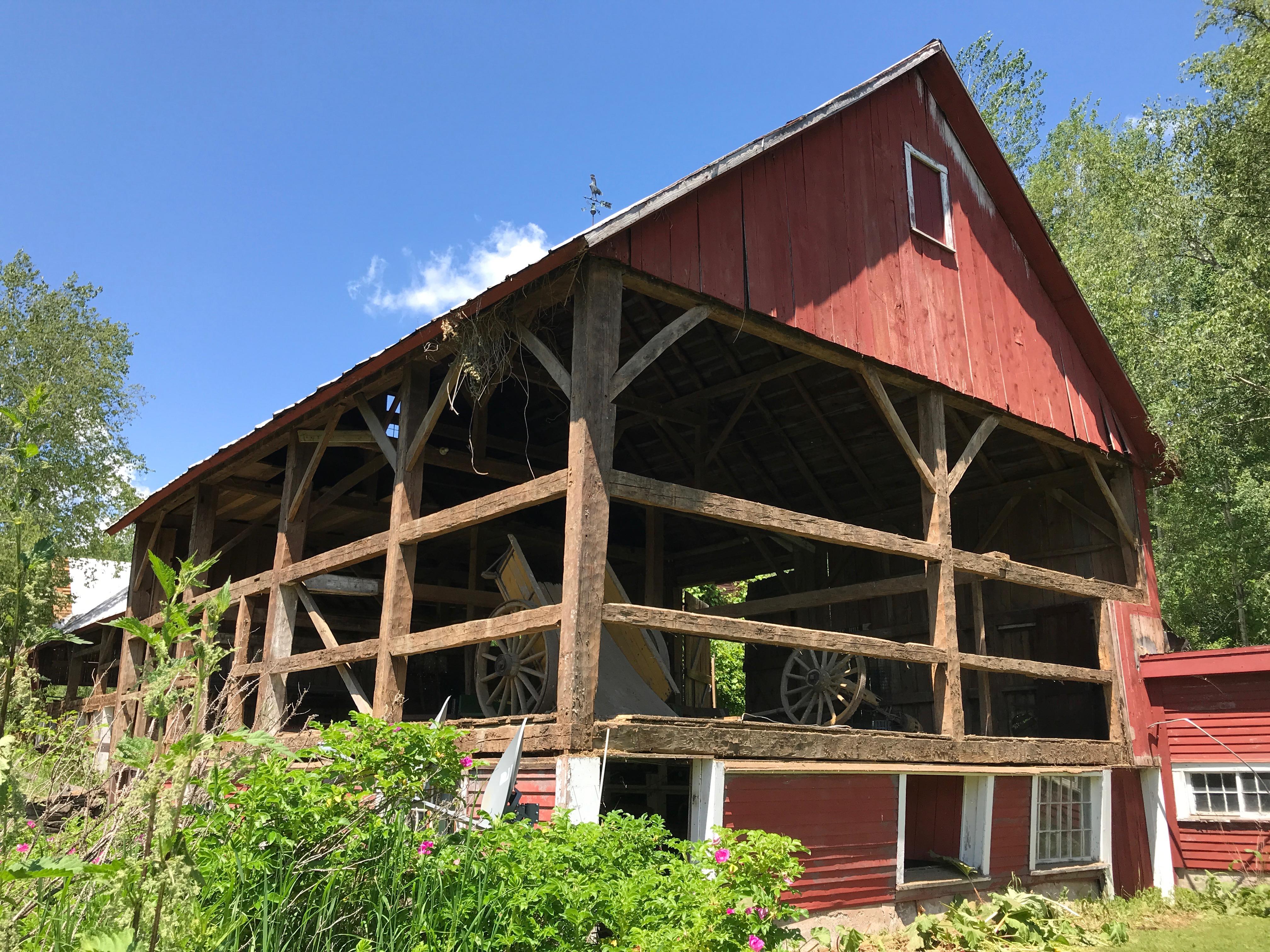 waterford gunstock frame_historic old barn