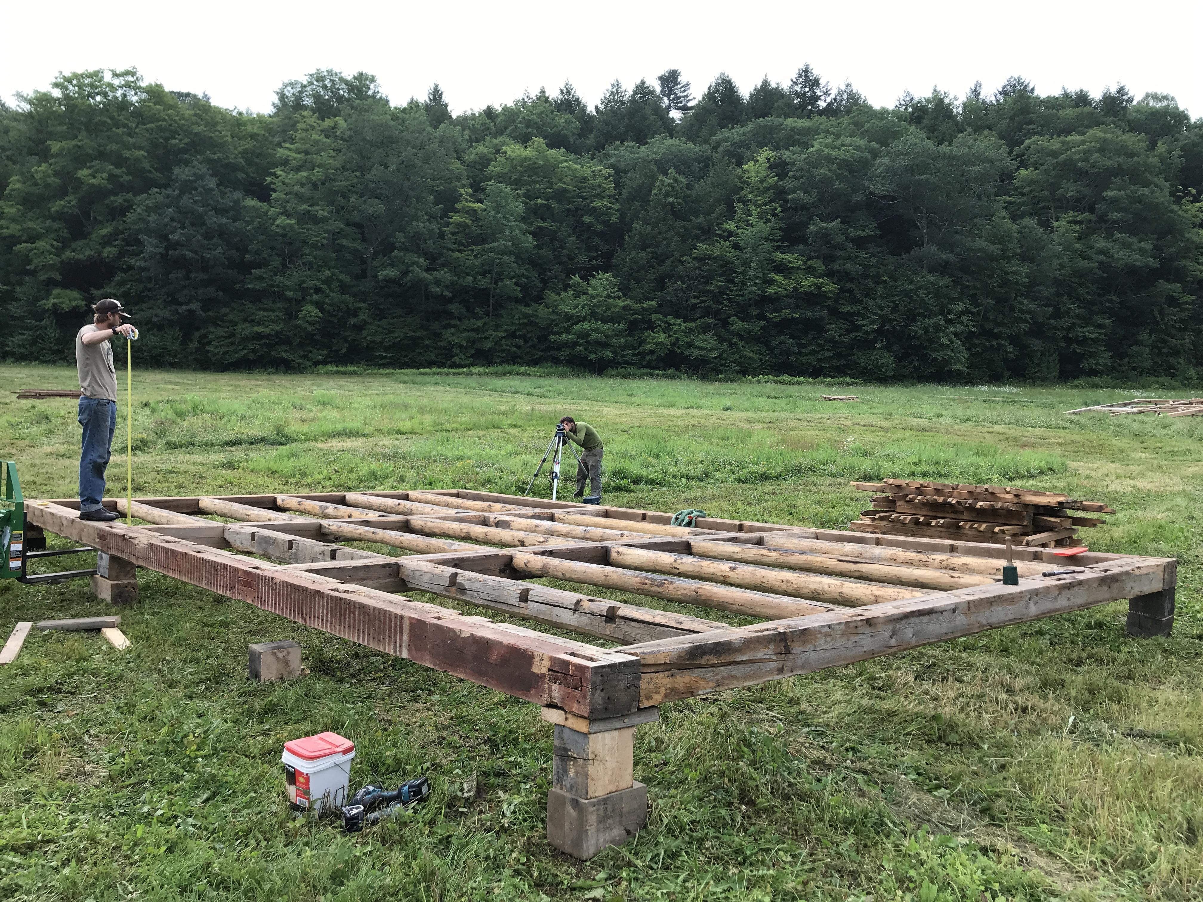 historic barn raising in Vermont