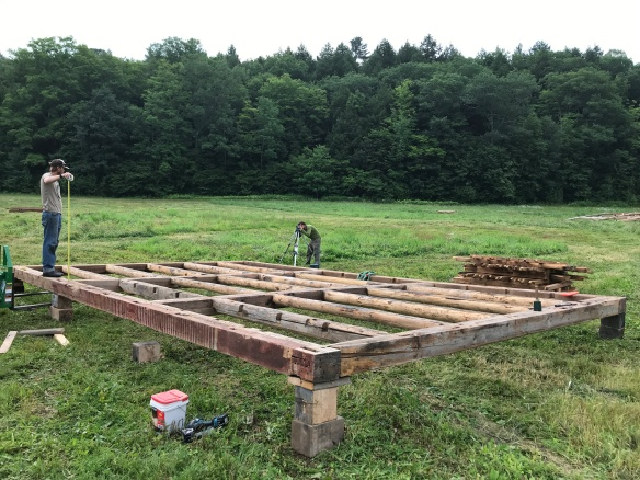 historic barn raising in Vermont