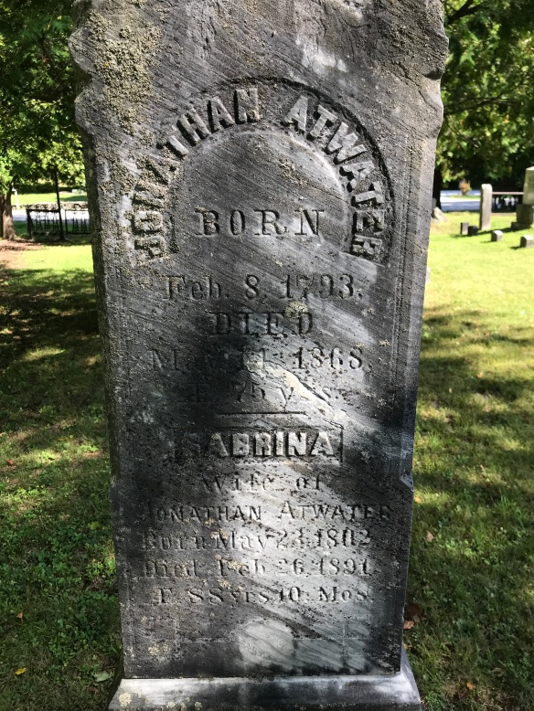 grave of Jonathan Atwater here in Middletown Springs VT