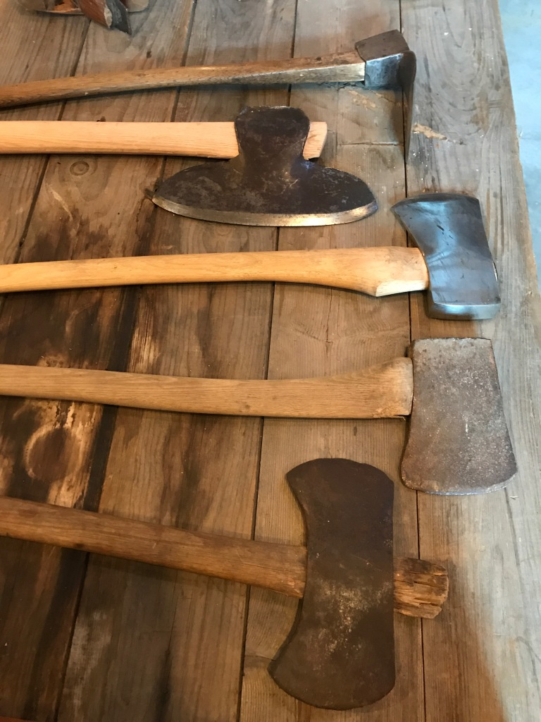 hewing axe and adze collection
