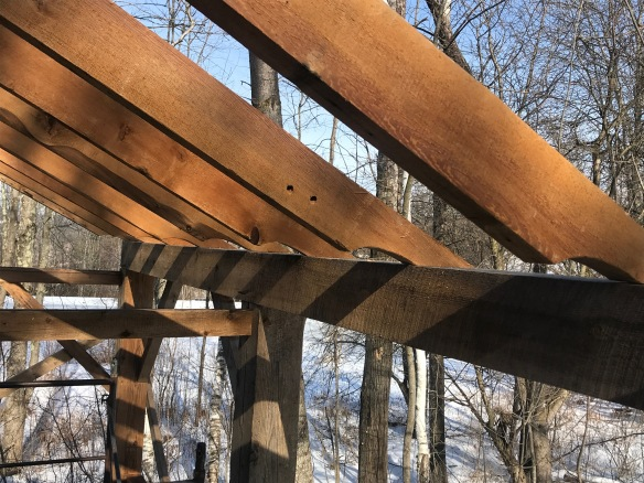 Atwater barn home addition rafters green mountain timber frames