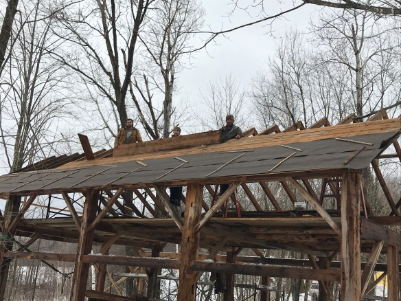 installing roof boards atwater barn home green mountain timber frames
