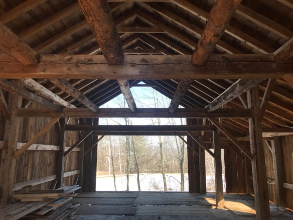 interior of atwater main frame green mountain timber frames