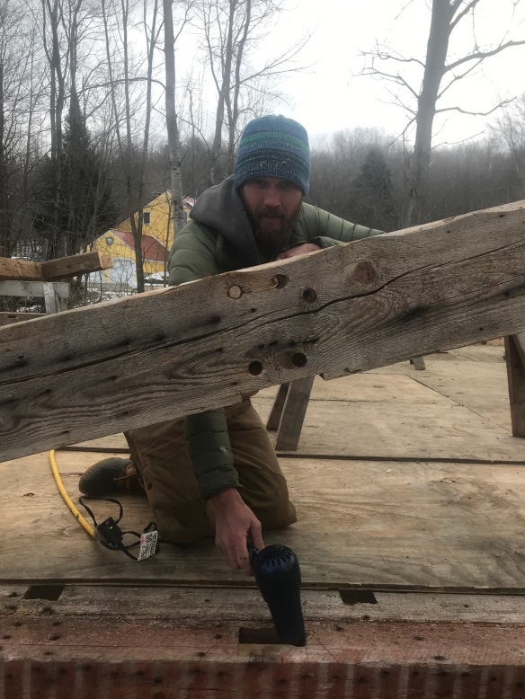 melting ice in mortise green mountain timber frames