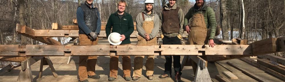 raising morning atwater frame green mountain timber frames