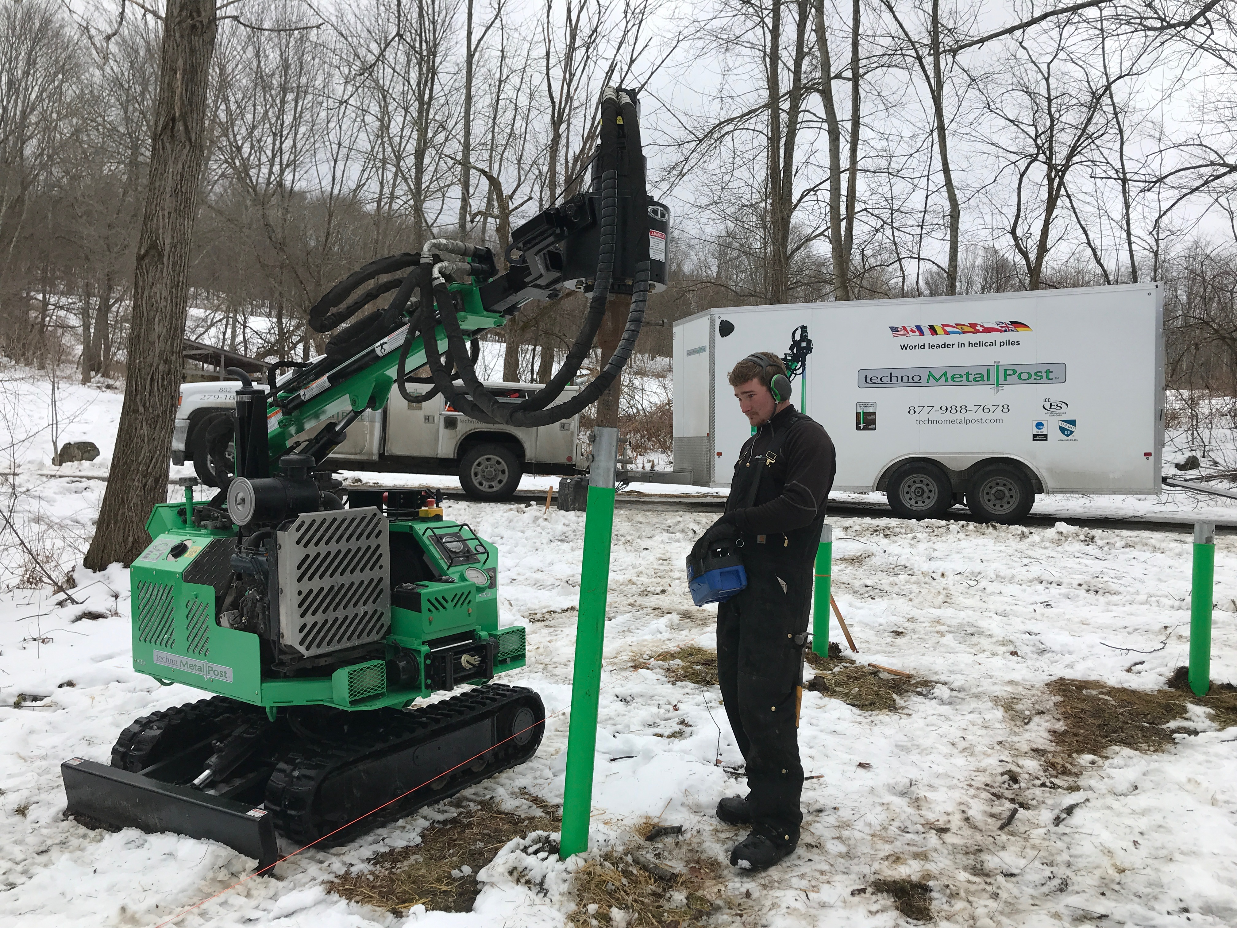 technopost installation green mountain timber frames barn home