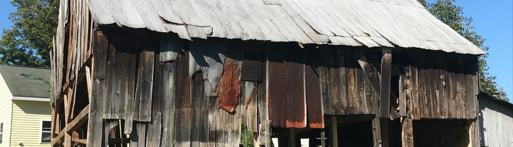 exterior of 1700 barn before restoration