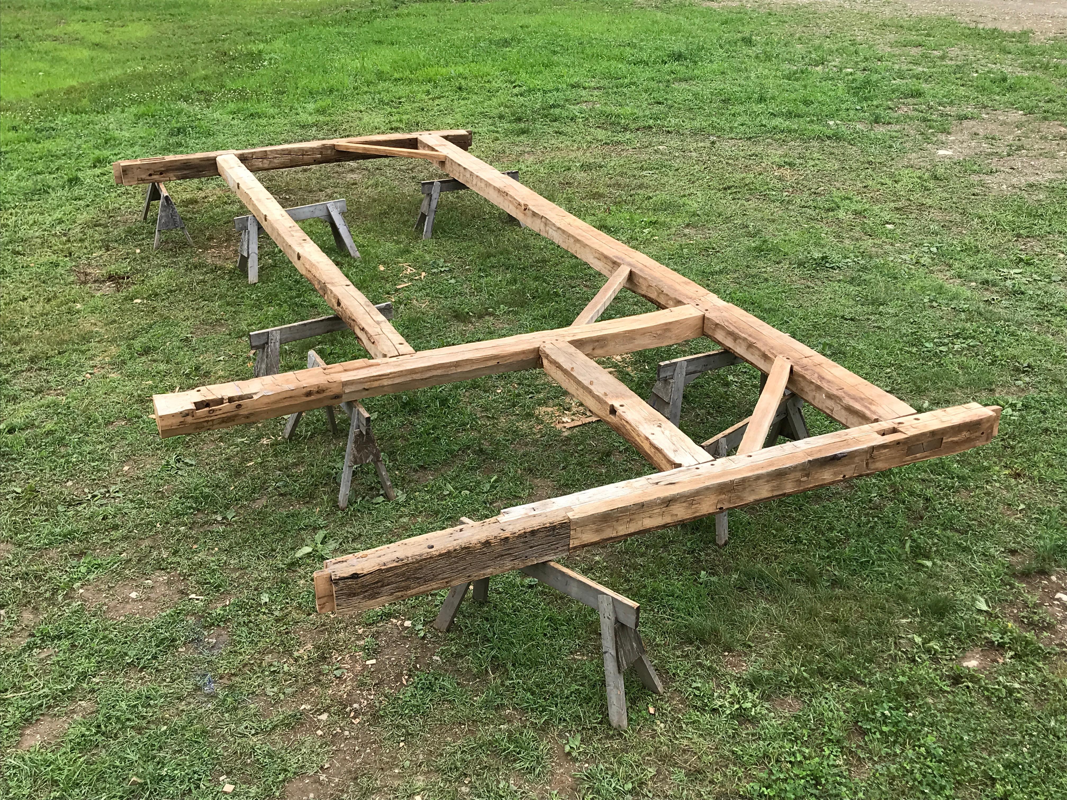 restored bent barn restoration Green Mountain Timber Frames