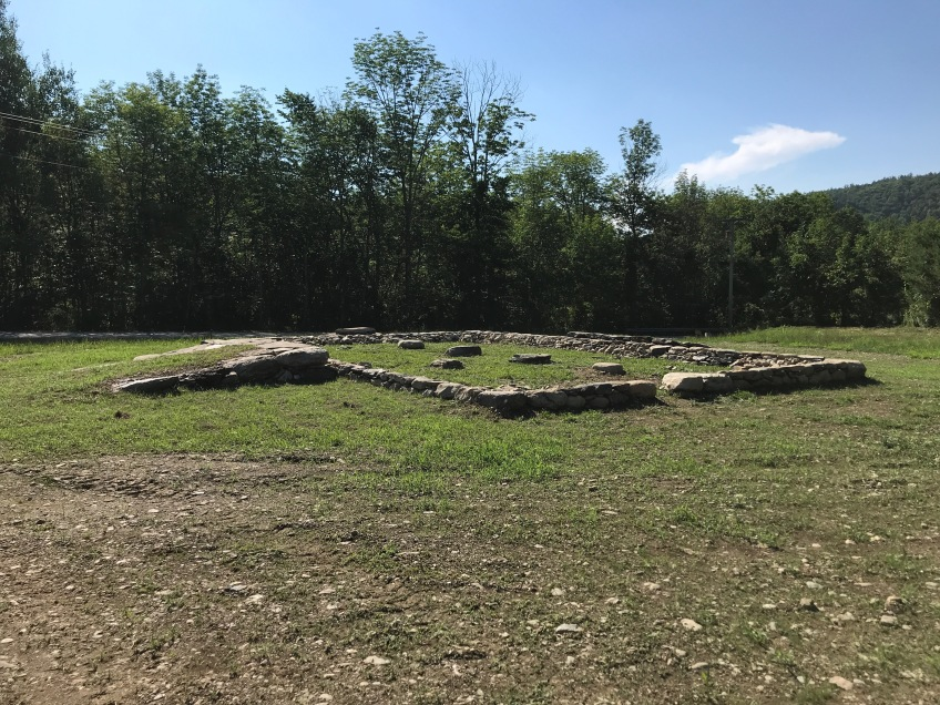 stone barn foundation by Green Mountain Timber Frames